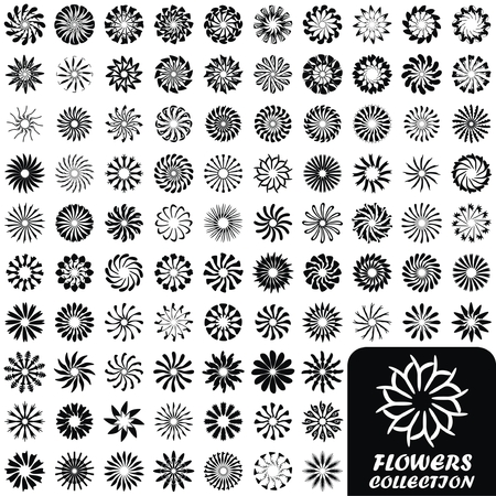 daisywheel: VECTOR -  Set of Flowers