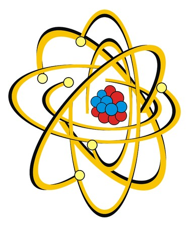 atomic: Vector - Atomic Structure of Carbon Atom