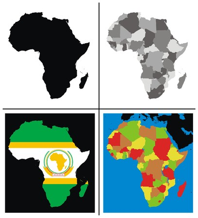 Vector - Africa Maps Collection