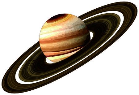 luminary: Planet Saturn with rings located in solar system in milky way galaxy endless universe science education discovery concept astronomy astrology infographic scientific fantasy planet surface map