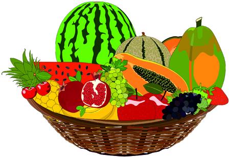 Fruit Basket healthy tropical fresh food meal