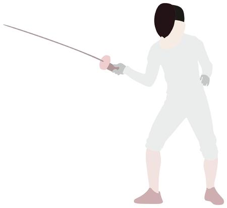 Fencing sport Ilustração