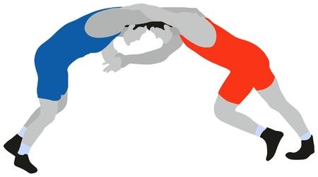 레슬링 자유형 스포츠 일러스트