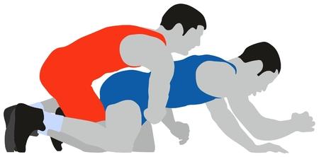 Wrestling greco roman sport Illustration