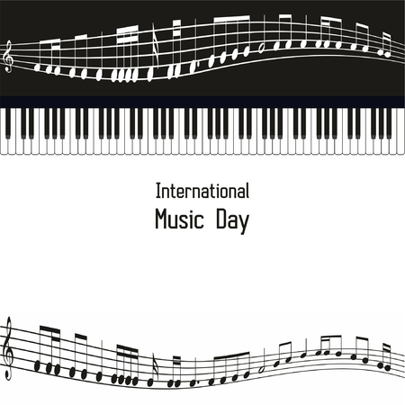 International Music Day Celebration Background with nice beautiful design Banco de Imagens - 87963308