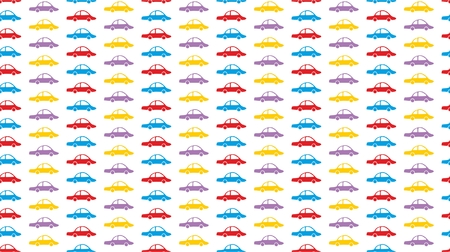 Seamless Baby Background with cars in retro pattern Banco de Imagens - 87963316