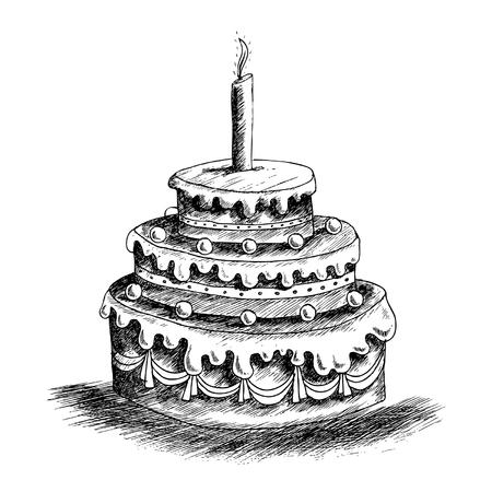 Birthday Cake Stock Illustratie