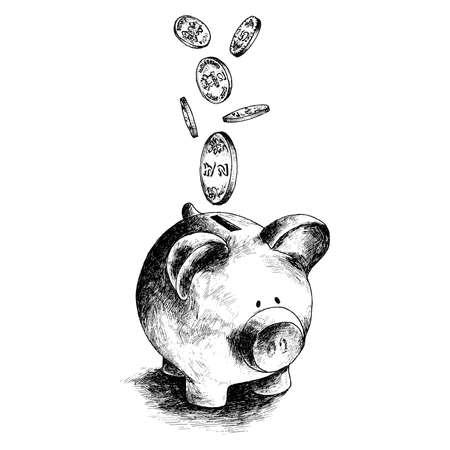Piggy Bank Stock Illustratie