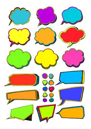 Speech Bubbles, Think Bubbles Stock Illustratie