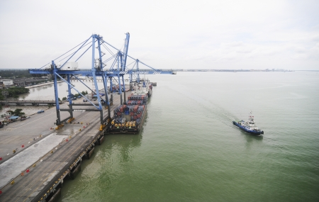 vicinity: KLANG-MALAYSIA, FEB. 29: The Port of North Port on Feb. 29, Klang. It is one of the worlds ten busiest ports located on the Malacca strait Sea in the vicinity of Klang, Malaysia