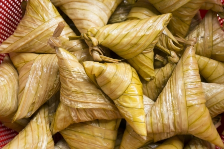 compressed rice: Traditional malaysian food when celebrating hari raya  This food called ketupat palas