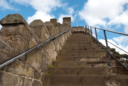 stair in warwick castle photo