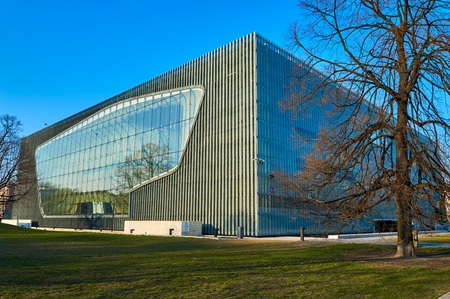 jews: Museum of the History of Polish Jews POLIN, Warsaw, Poland, early spring