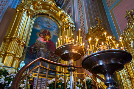 Interior of the Cathedral of St. Mary Magdalene, during the Holy Easter, Warsaw, Poland.