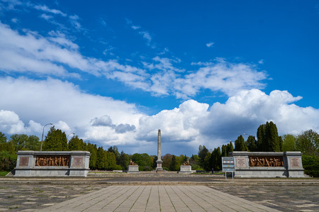 Warsaw, Poland - May 09, 2017: Soviet Military Cemetery in Victory Day - The anniversary of the signing of Nazi Germanys surrender in 1945 Editorial