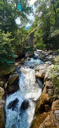Mountain landscape, Erma River Gorge, north-western Bulgaria, near the city of Tran, BG