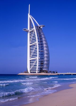 luxury hotel at the beach, near Dubai Editorial