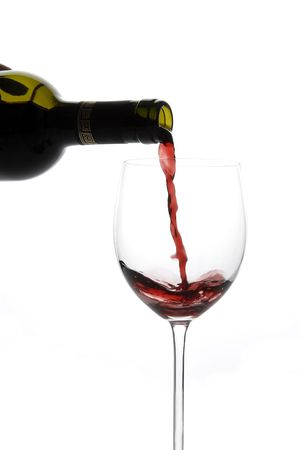 Bottle and glass of red wine Stock Photo - 3580786