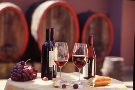 weinverkostung: Red Weinfass mit still.Wine Verkostung.