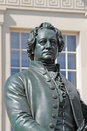 Monument of German writer Goethe at Weimar. Stock Photo