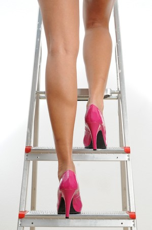 legs and magenta colored shoes.