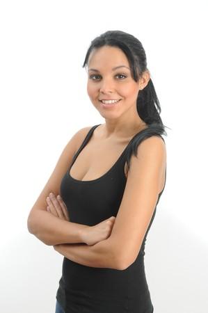 Smiling hispanic woman.