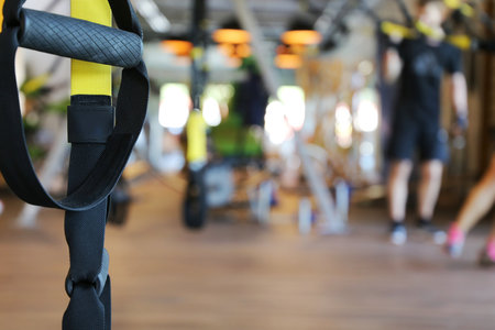 TRX workout at the gym