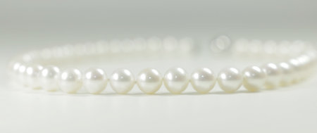 pearl necklace: Pearl necklace on bright background