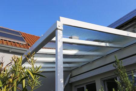 A residential patio or terrace canopy Banco de Imagens