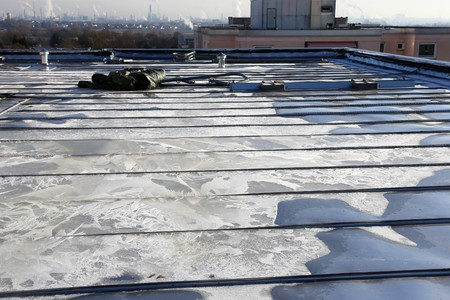 High-grade steel flat roof