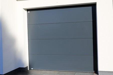sectional door: Modern new garage door