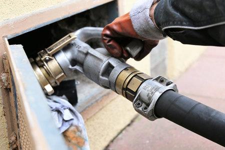 El combustible de calefacción se entrega