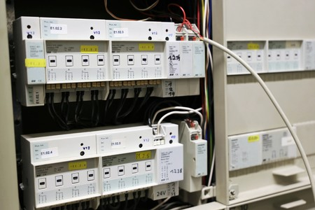 switch: Building automation with KNX Stock Photo
