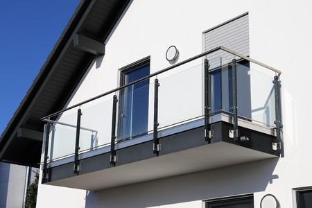 Stainless Steel balkon reling Stockfoto