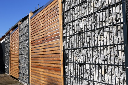 Gabion fence wall Stock fotó - 70295044