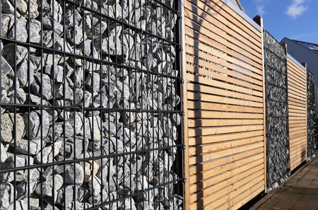 Gabion fence wall