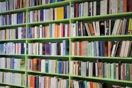 Books in a shelf Zdjęcie Seryjne