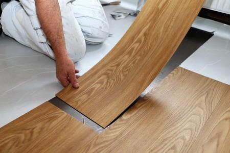 Man laying floor PVC