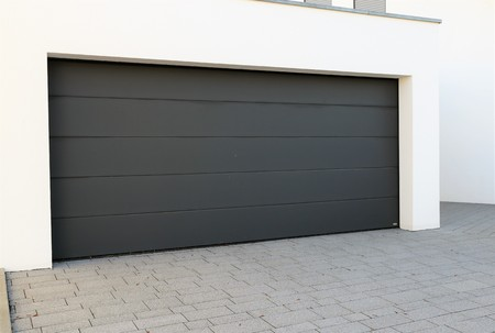 Modern new garage door