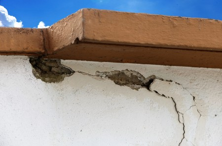 Masonry with plaster damages Banque d'images