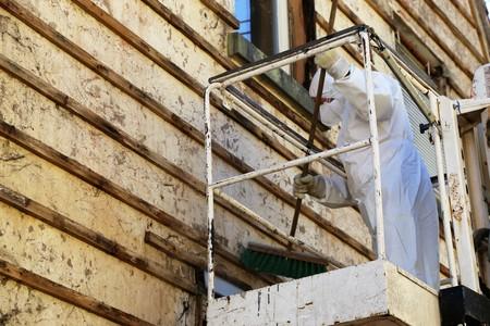 abatement: Asbestos abatement (house facade)