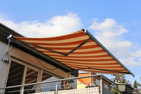 New terrace awning