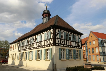 old town guildhall: Old town hall Mutterstadt, Rhineland-Palatinate, Germany
