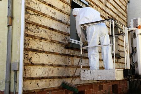 Asbestos abatement (house facade)