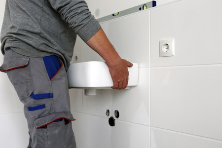 mounting: Mounting a new sink