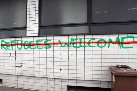 Germany: Refugees welcome? Stok Fotoğraf