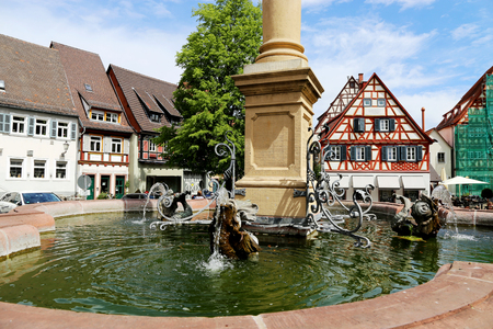 Old town of Ladenburg, a nice town between Mannheim and Heidelberg Stock Photo