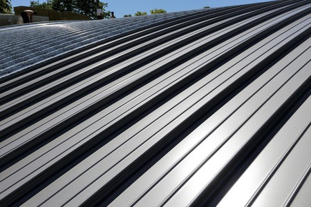 Industry standing seam roof Stock Photo