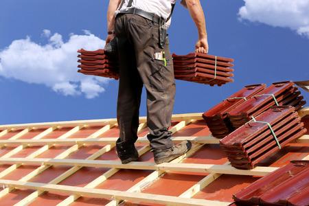 Roofer op het werk