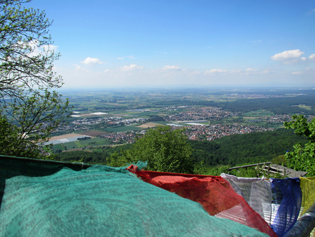 Melibokus, Mountain summit in the Forest of Odes (Odenwald), Hesse, Germany